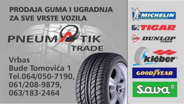 Pneumatik Trade Prodaja Guma I Akumulatora Vrbas