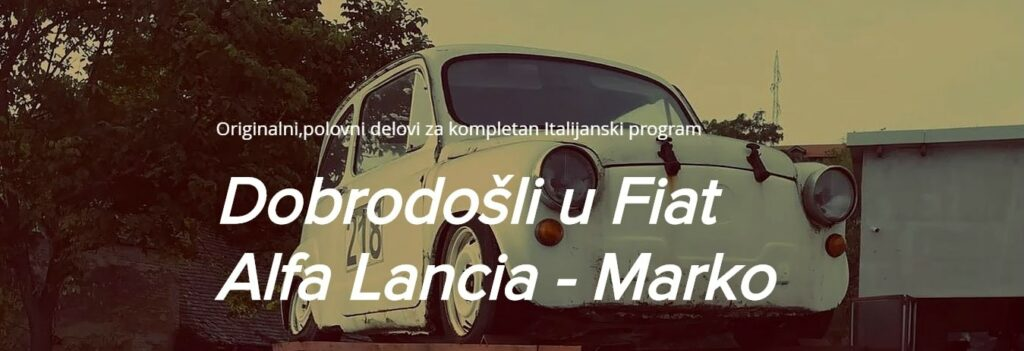 Alfa Fiat Lancia Auto Otpad Marko Biznis Katalog Evrope