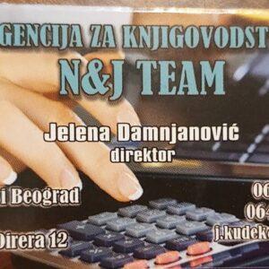 Knjigovodstvena agencija N&J Team – Ledine, Novi Beograd